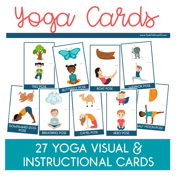 It is a picture of Nerdy Yoga Cards Printable