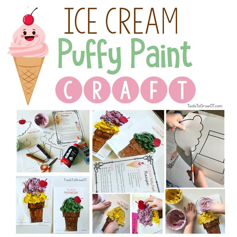 Scoops of Fun - Summer Ice Cream Tactile Recipe and Craft
