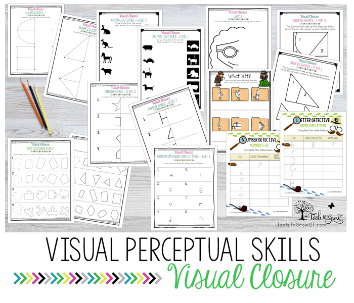 VISUAL PERCEPTION:Visual Closure activities, ideas, and resources