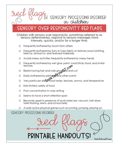 Red Flags - Sensory Processing Disorder