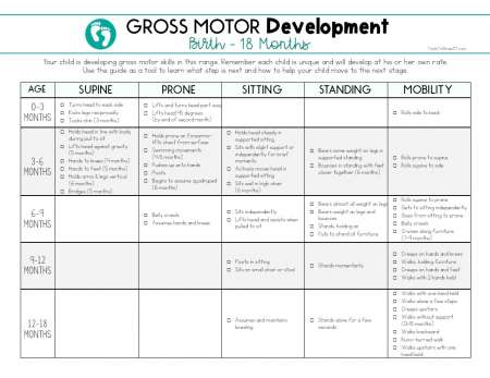 Caregiver education team collaboration therapy for Motor skills development chart